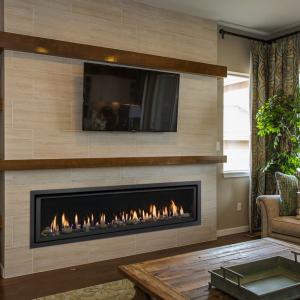 6015 HO GSR2 with Flat Trim Gas Fireplace