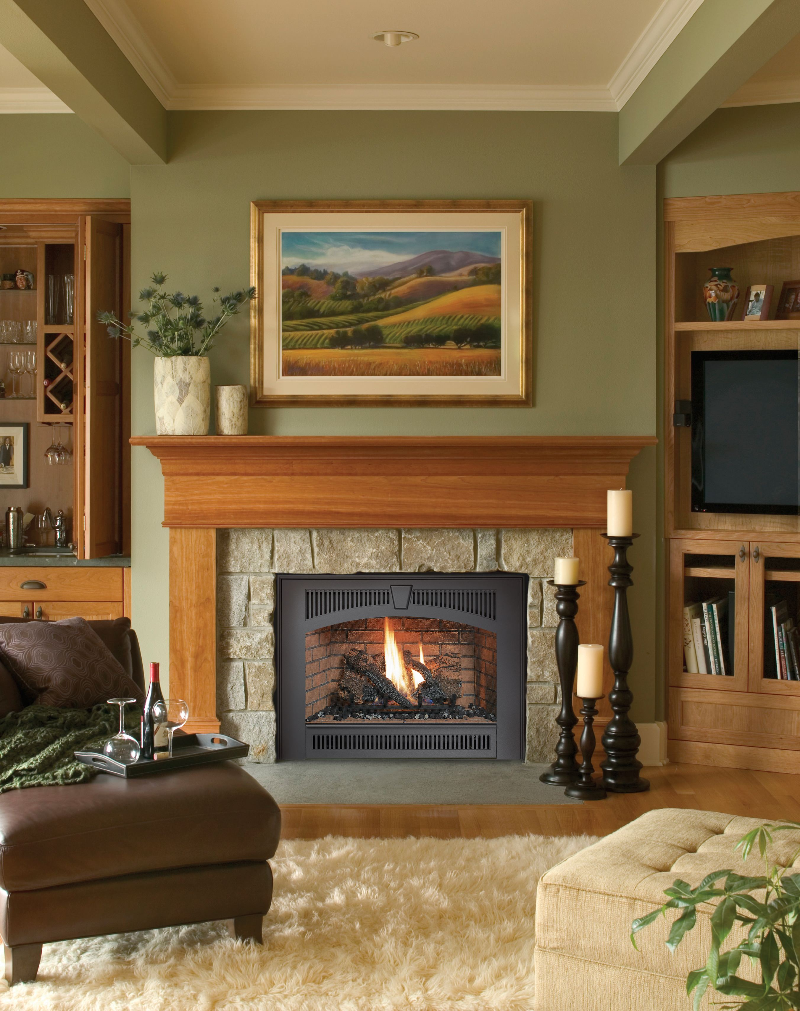 Fireplace xtrordinair 564 space saver gas fireplace h2oasis - Gas fireplaces for small spaces property ...