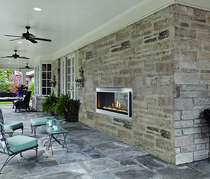 Heat & Glo - Mezzanine See-Through Indoor/Outdoor Gas Fireplace ...