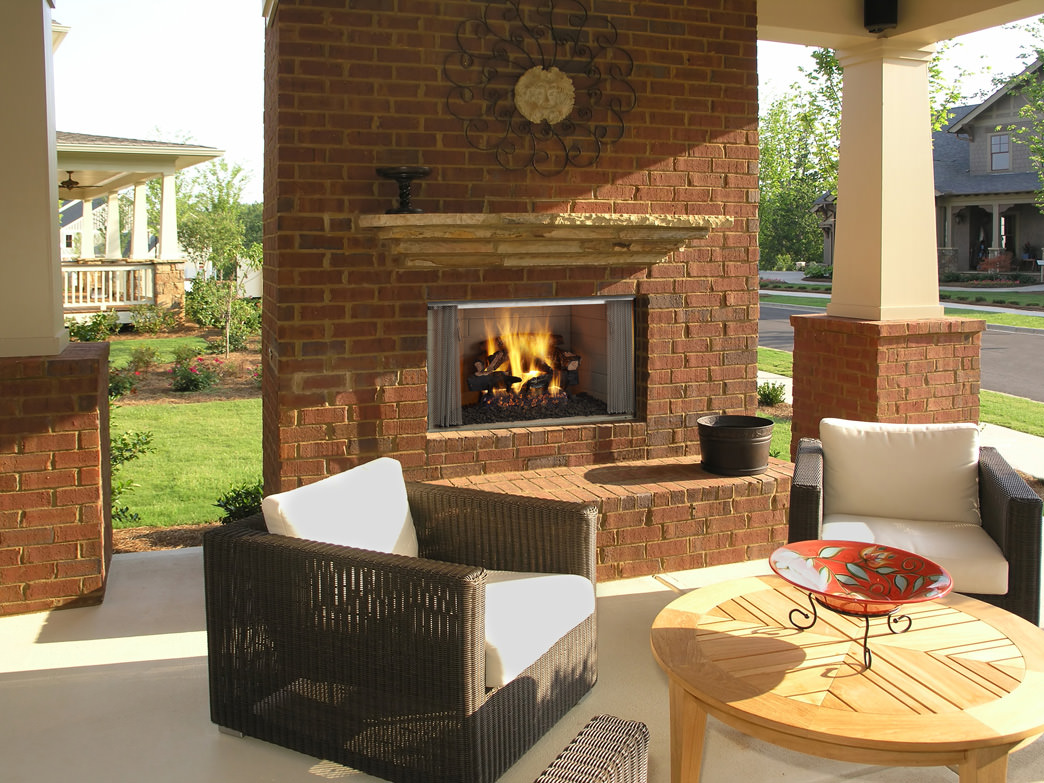 Outdoor Wood Fireplaces