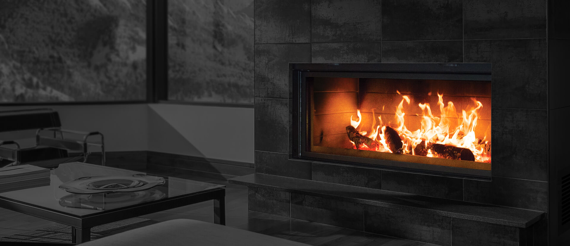 Renaissance Fireplaces - Linear 50 Wood Burning Fireplace ...