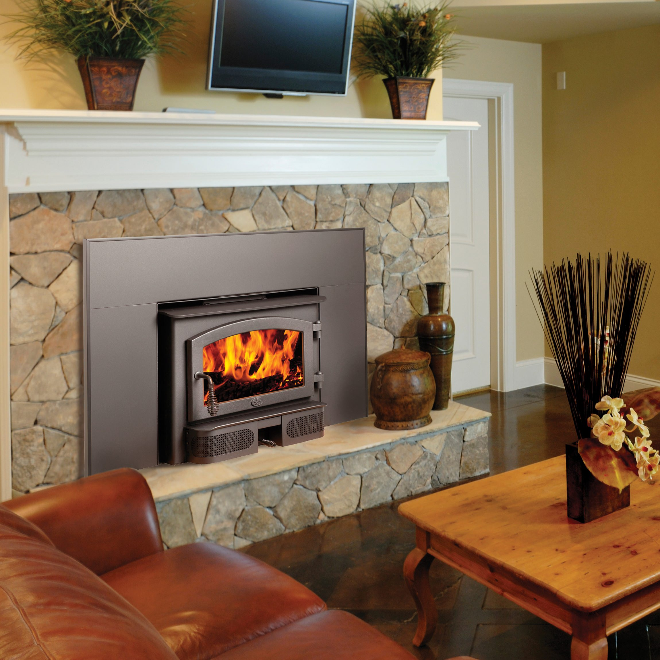 double fireplace fireplaces wood insert for panoramic godin sided