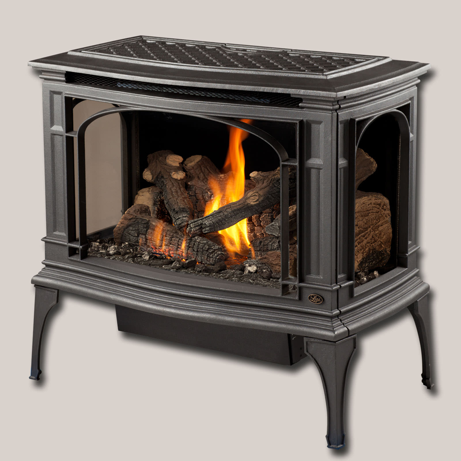 The Lopi Greenfield Gas Stove is Lopi