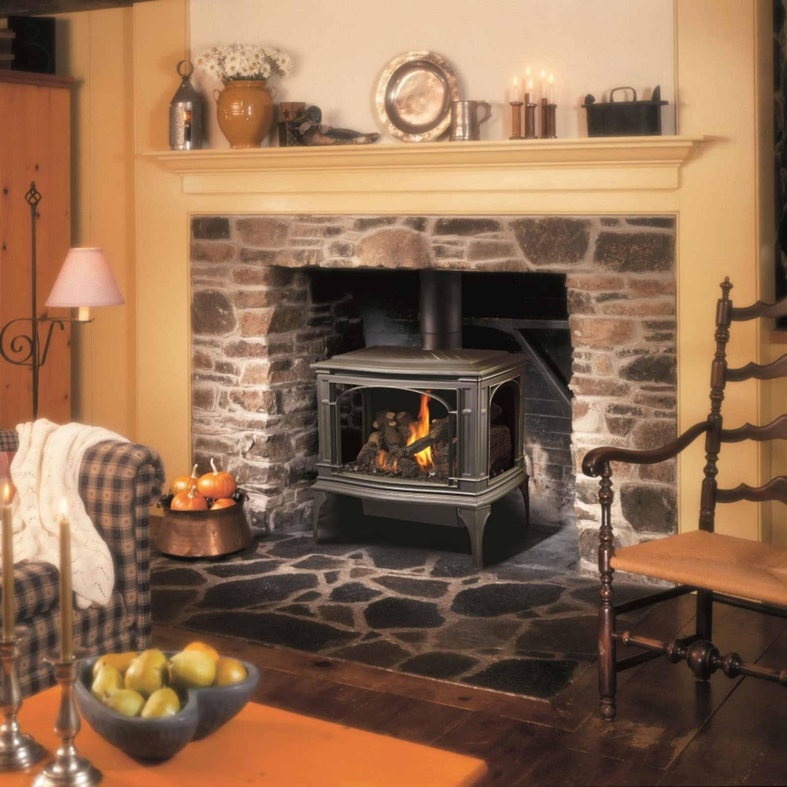 Pellet Stove Venting >> Lopi - Greenfield Gas Stove - H2Oasis