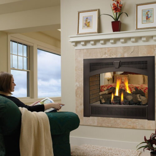 864 TSV See-Thru gas fireplace