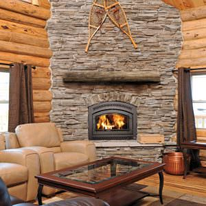 36 Elite wood fireplace