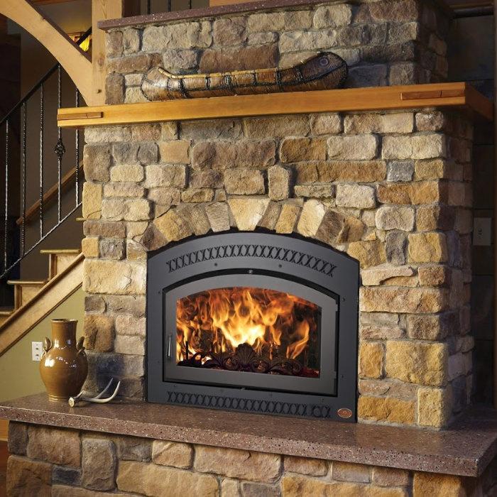 36 Elite wood fireplace