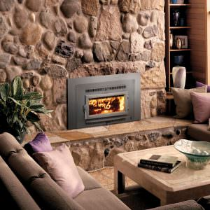 Avalon Small Flush Hybrid-Fyre Wood Insert