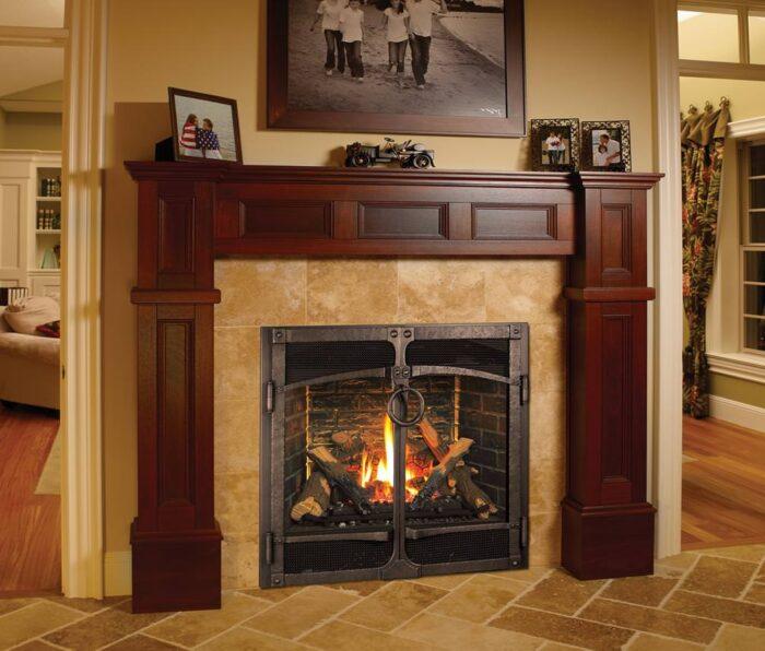 Fireplace Xtrordinair 864 HO EF GSR2 Gas Fireplace with Ironworks door