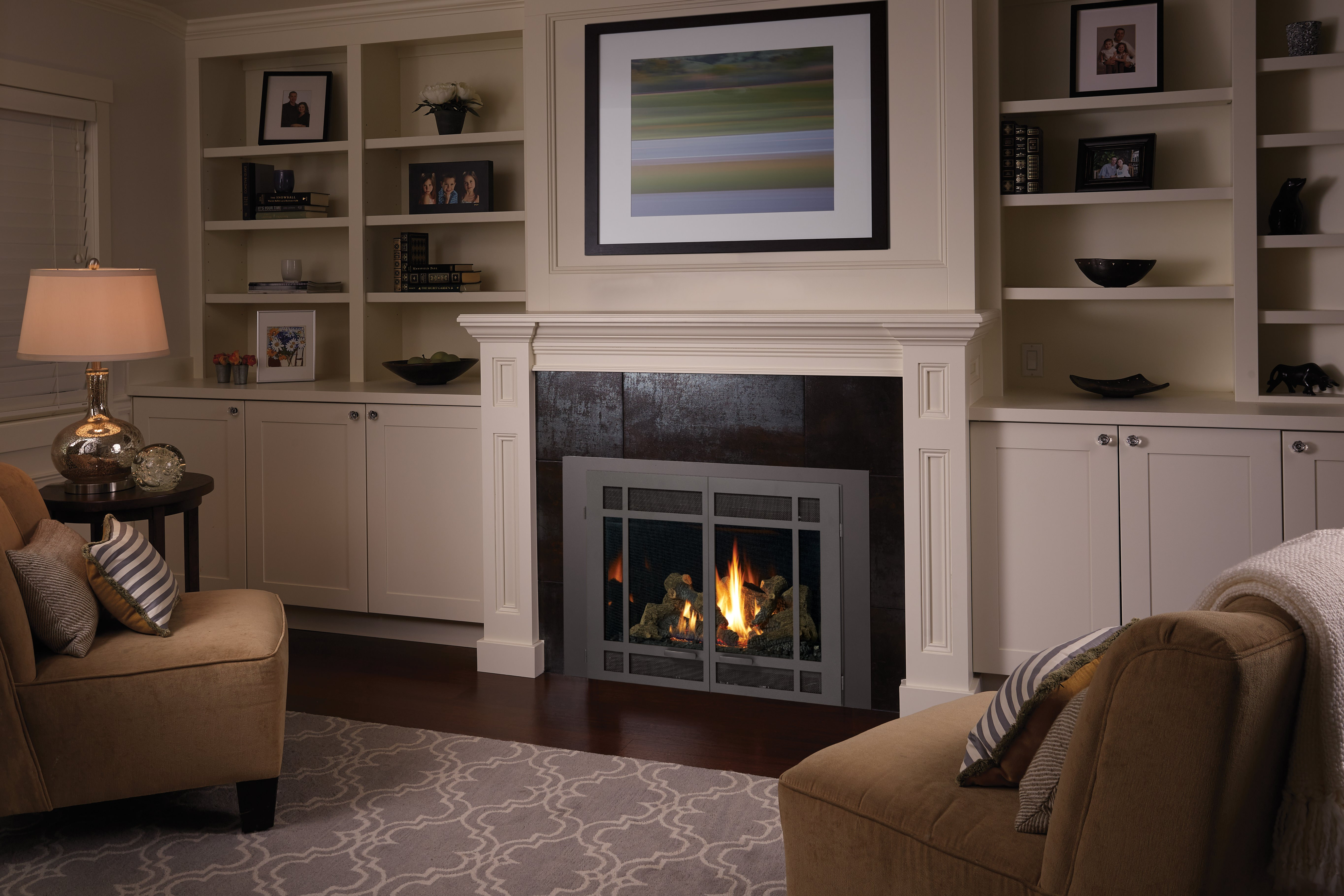 Fireplace Xtrordinair 864 Trv Gas Fireplace With Rectangular Double