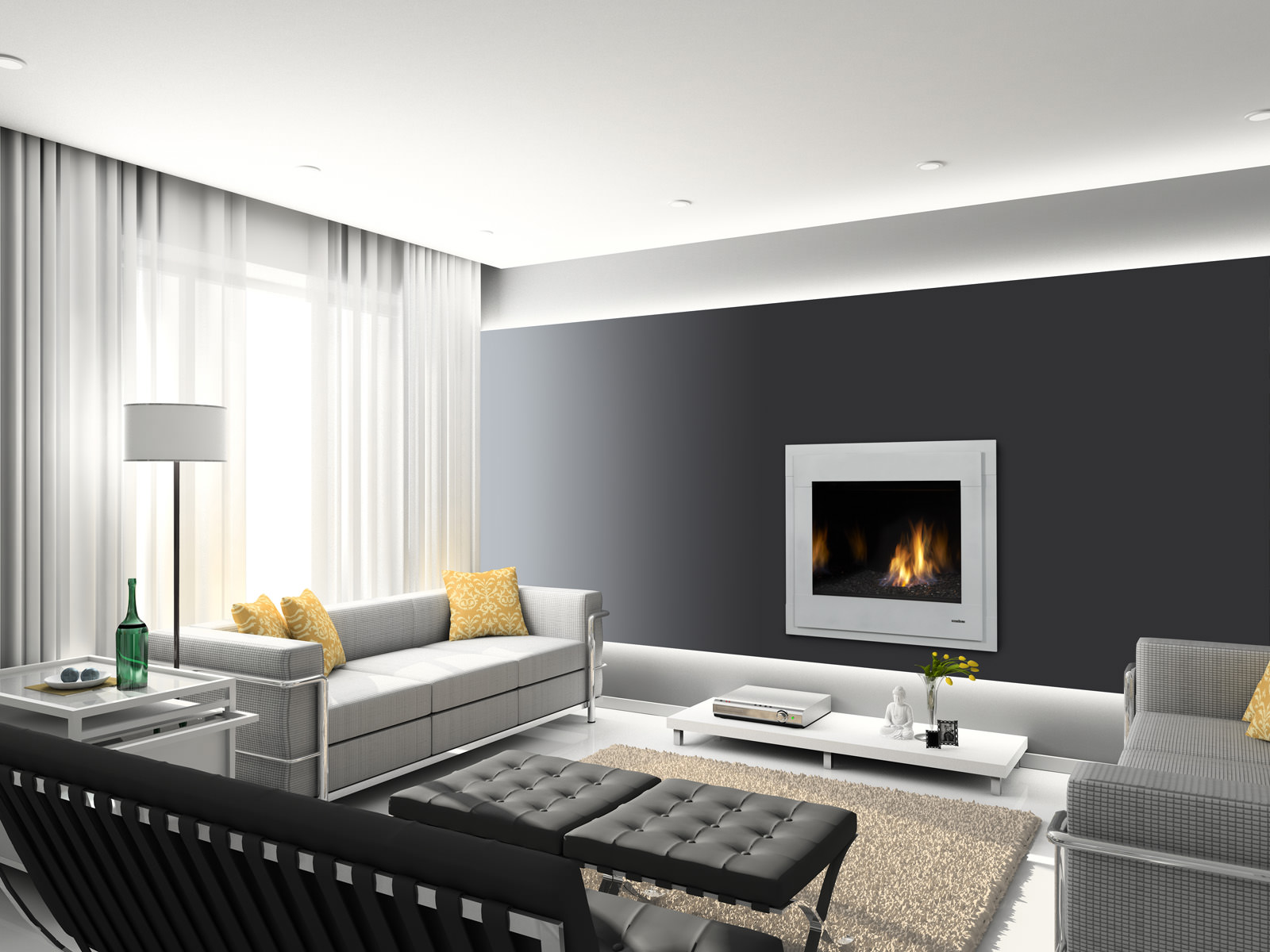 heat u0026 glo slimline series gas fireplace h2oasis