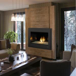 8000 modern gas fireplace