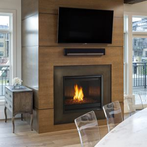 8000 Modern - Heat & Glo Gas Fireplace with Folio, Fluted