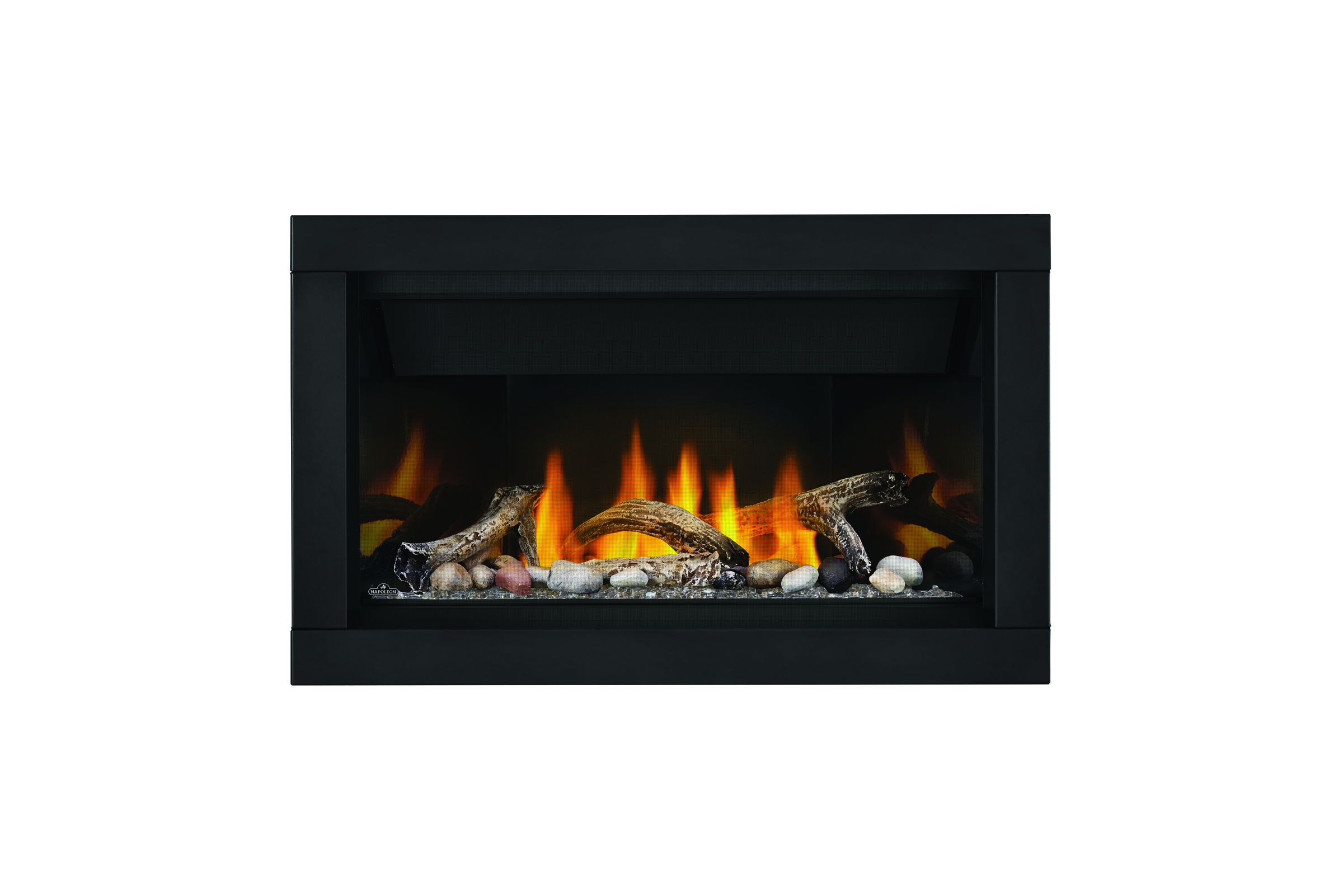 Napoleon Acsent-BL36-1-crushed-glass-clear-mineral-rocks-driftwood-PRRP-premium-surround
