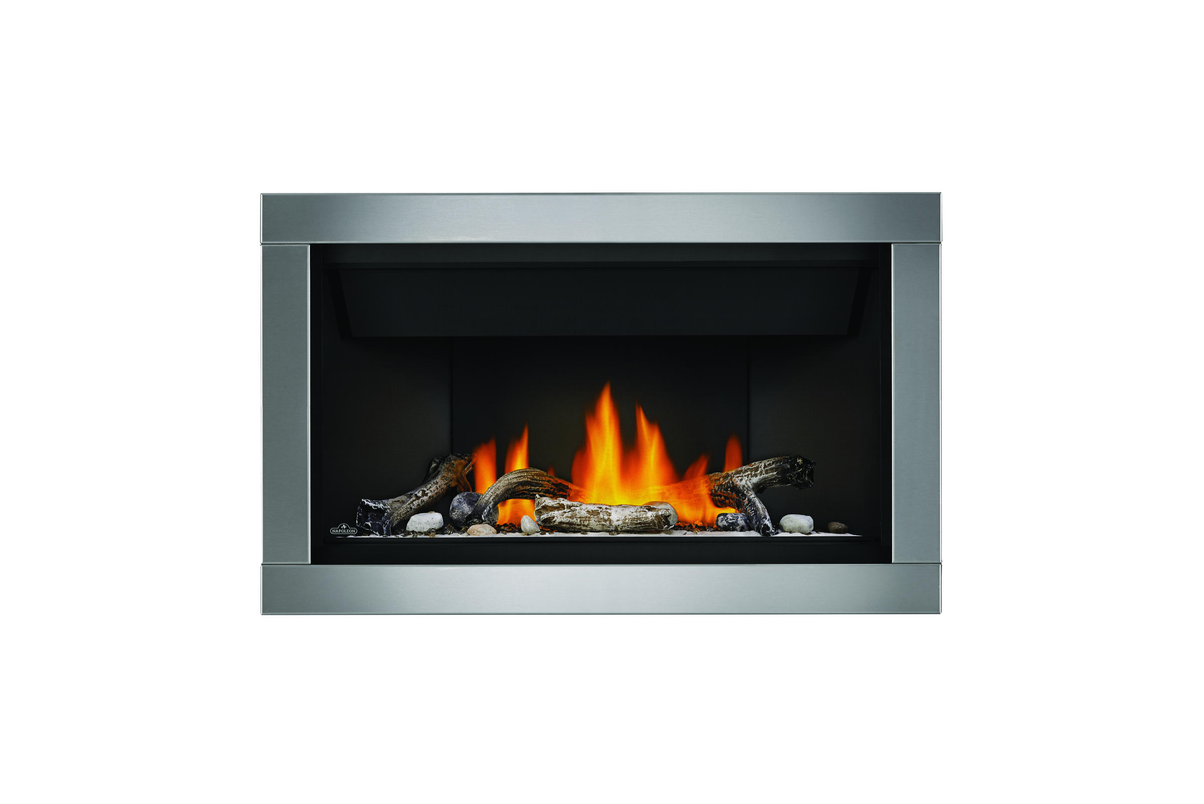 Napoleon Acsent-BL36-1-shore-fire-driftwood-silver-surround