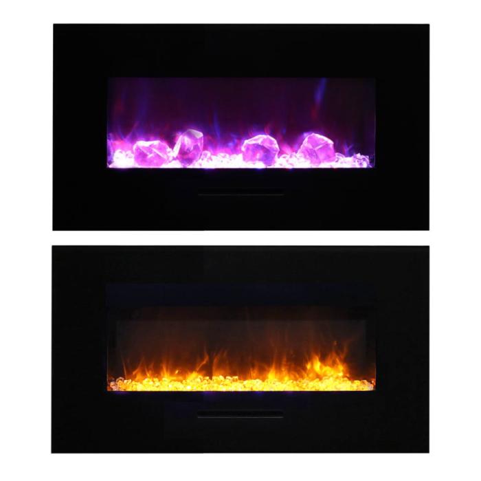 Amantii – WM FM 34 4423 BG Wall Mount Flush Mount Electric Fireplace 1