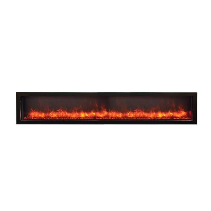 Amantii – WM FM 88 10023 BG Wall Mount Flush Mount Electric Fireplace logs