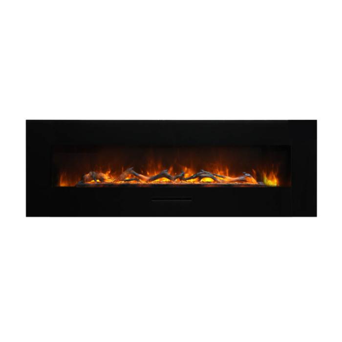 Amantii WM FM 60 7023 BG Wall Mount Flush Mount Electric Fireplace 1