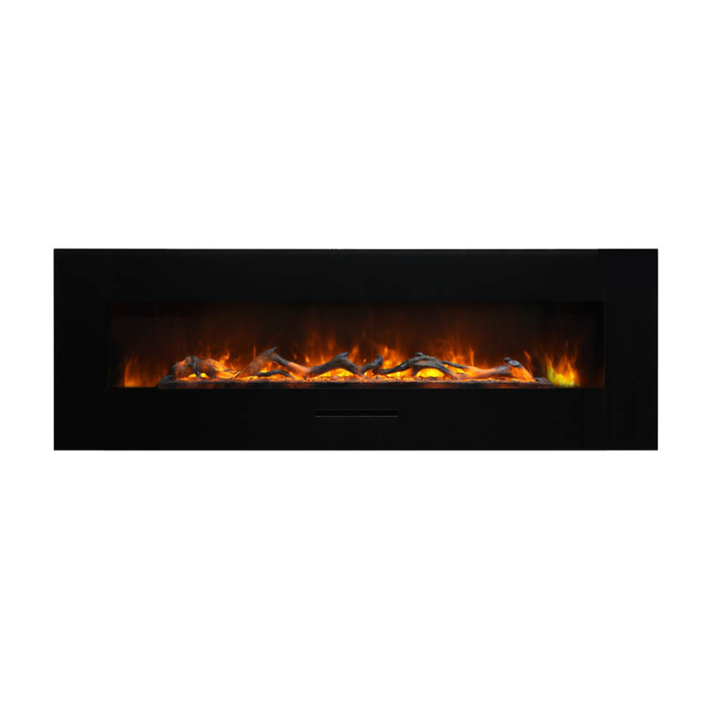 Amantii WM FM 60 7023 BG Wall Mount Flush Mount Electric Fireplace