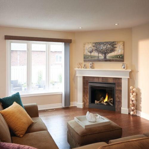 Ascent B36 1 Life livingroom with mantel 1