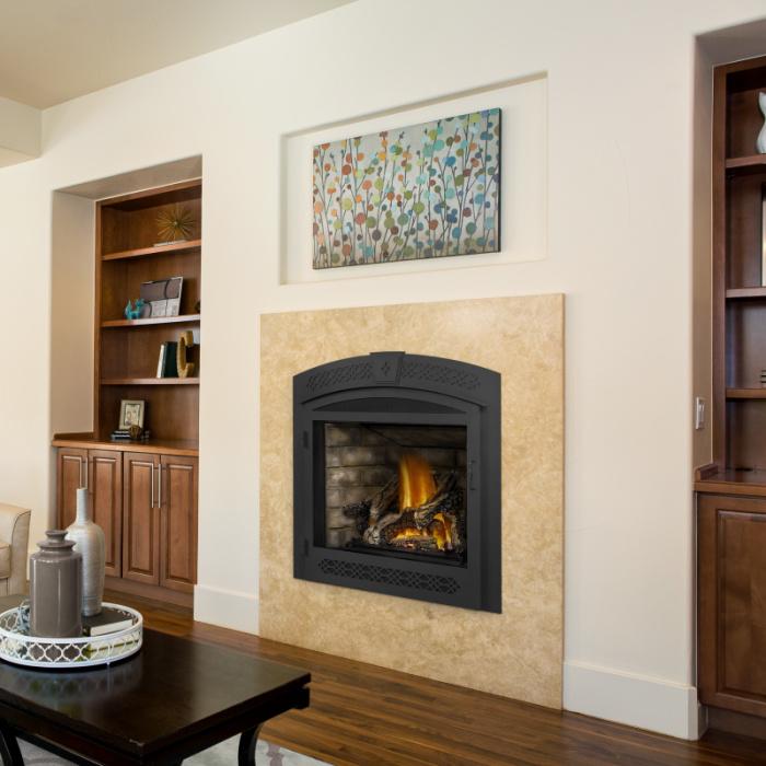 Ascent GX70 roomset newport logs operable door napoleon fireplaces 1