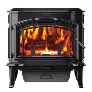 Quadra-Fire Explorer II Wood Stove - Porcelain Black,