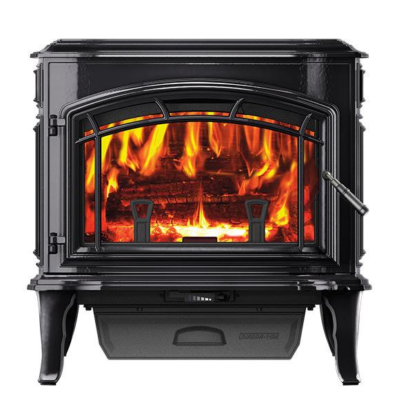 Quadra-Fire Explorer II Wood Stove - Porcelain Black,