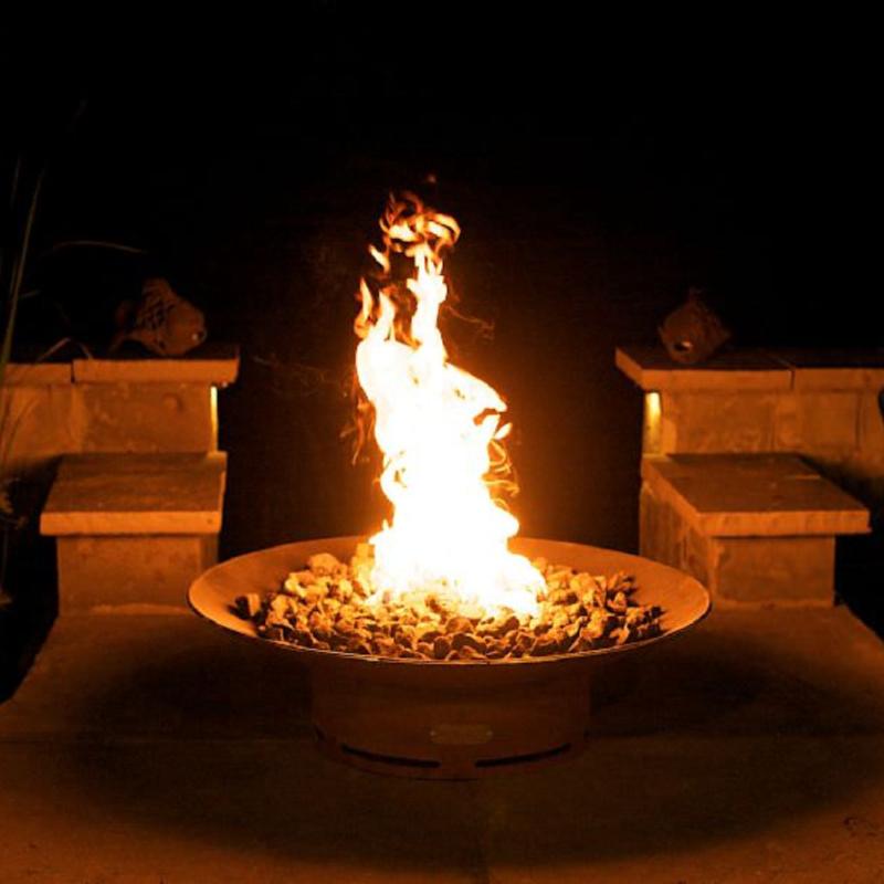Fire Pit Art – Asia – 36″ – Natural Gas or Liquid Propane 120K BTU Burner 1