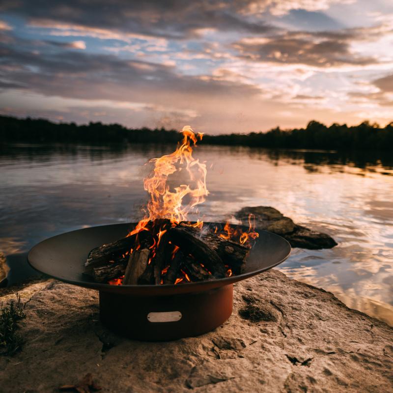Fire Pit Art – Asia – 36″ – Natural Gas or Liquid Propane 120K BTU Burner 2