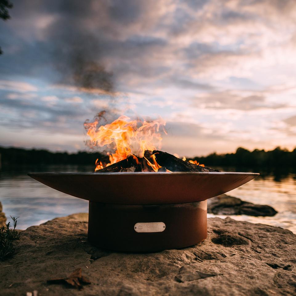 Fire Pit Art – Asia – 36″ – Natural Gas or Liquid Propane 120K BTU Burner 3