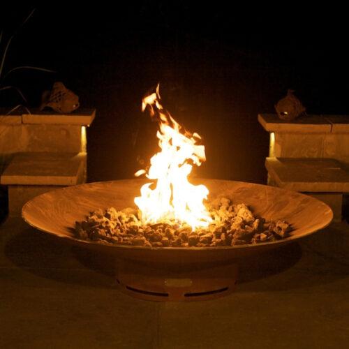 Fire Pit Art Asia 48 Oriental wok style ¼ steel low profile modern design. 1