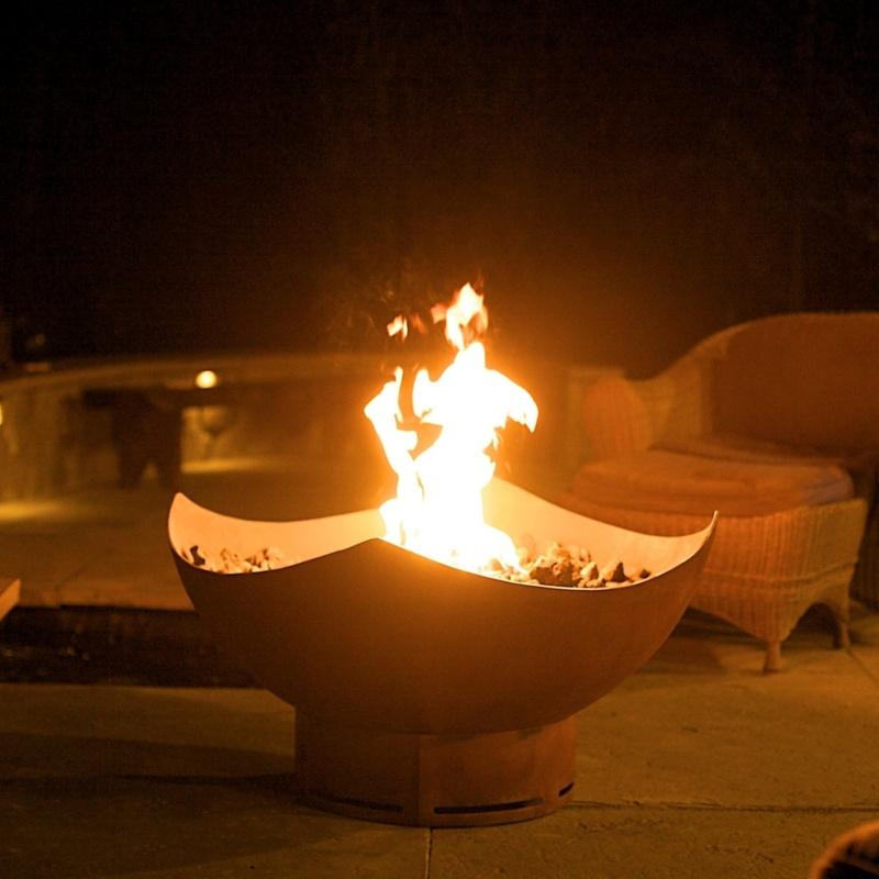 Fire Pit Art Manta Ray 2