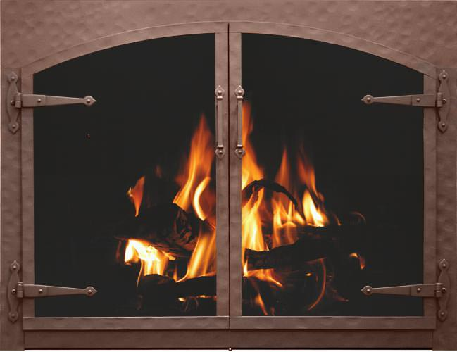 Stoll Craftsman Collection Forged Iron Fireplace Doors H2oasis