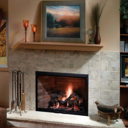 Icon wood fireplace