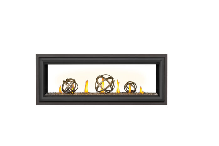 Napoleon Vector LV50 See Thru-Wrought-Iron-Globes-Black-Trim-Premium-Safety-Barrier