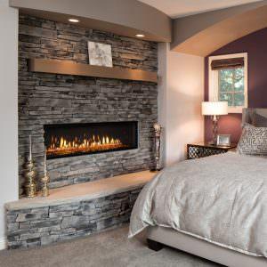 Mezzo gas fireplace