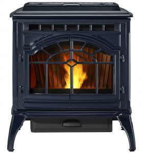 Quadra-Fire Mt. Vernon AE Pellet Stove Porcelain Blue,