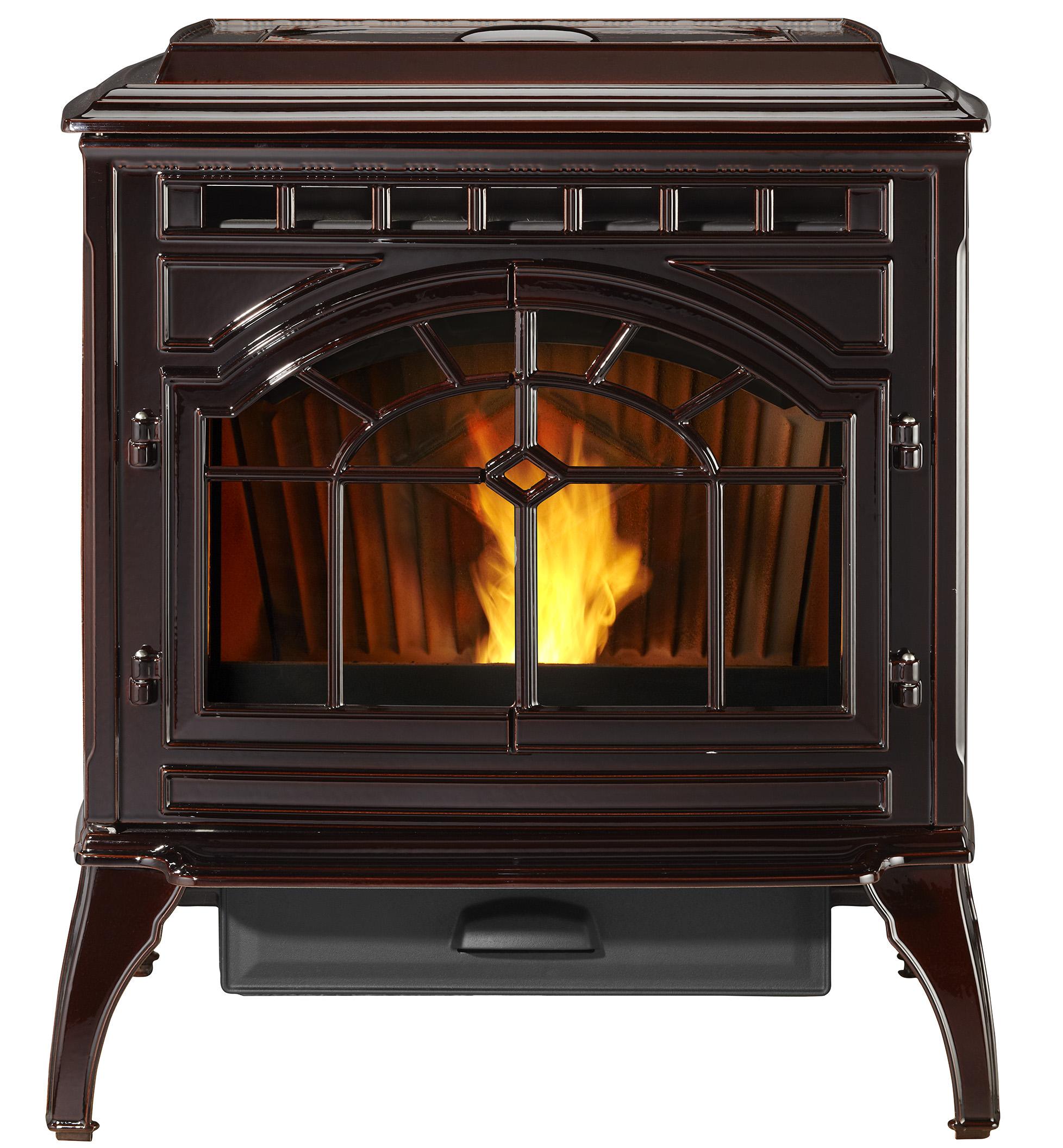 Quadra-Fire Mt. Vernon AE Pellet Stove Porcelain Mahogany,