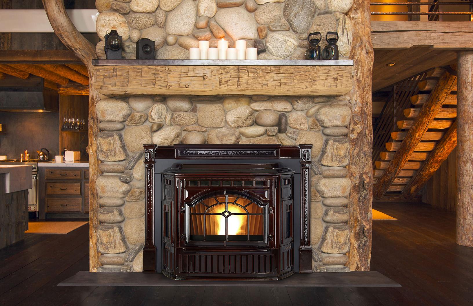 Quadra-Fire Mt. Vernon E2 Pellet Insert Mahogany