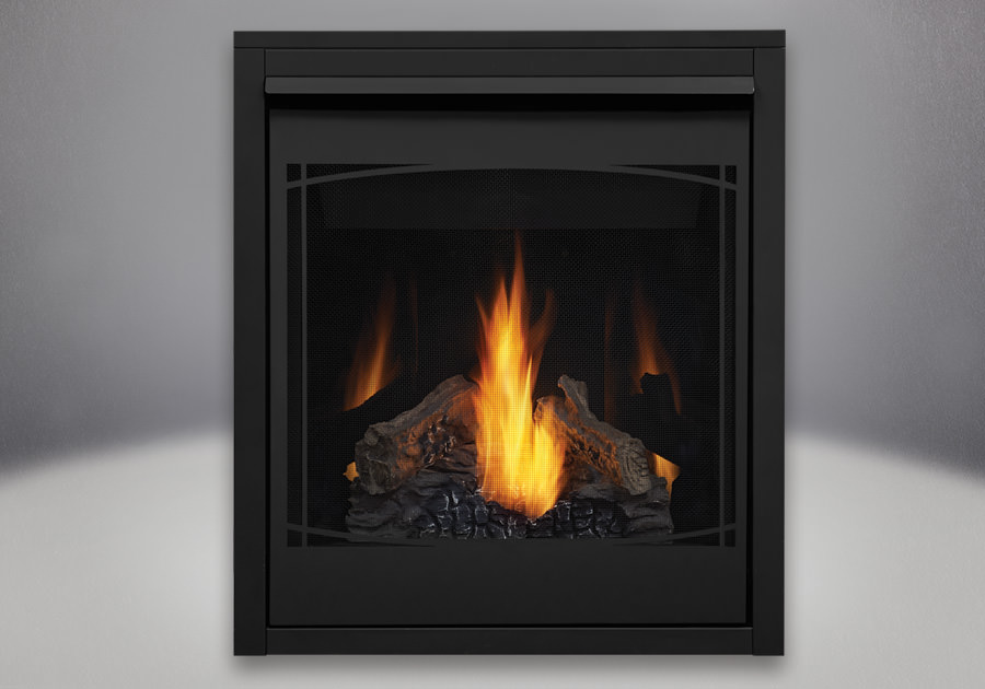 Napoleon Ascent 30 PHAZER Log Set, Decorative Front - Zen, MIRRO-FLAME Porcelain Reflective Radiant Panels