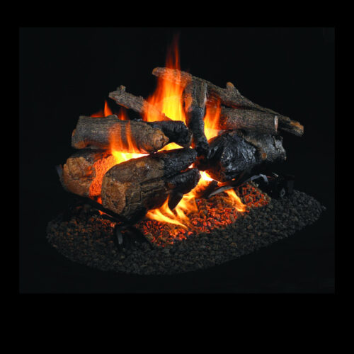 Petersen Real Fyre Charred American Oak See Thru Log Set 1