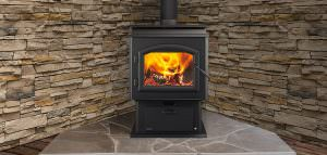 Quadra-Fire - Adventure II Wood Stove with BlackDoor