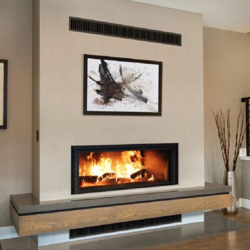 Renaissance Fireplaces Linear 50 Wood Burning Fireplace 1