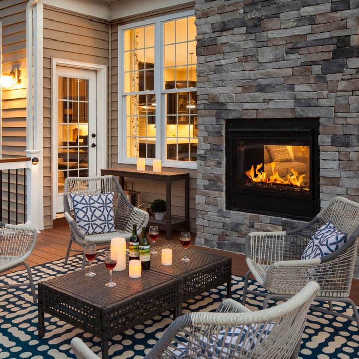 Twilight II Indoor/Outdoor Gas Fireplace