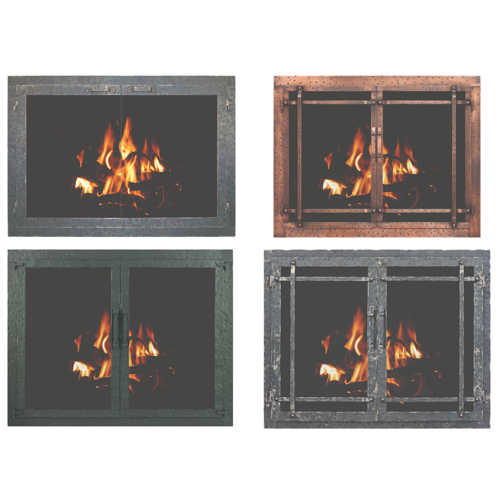 Stoll Craftsman Collection Aged Iron Fireplace Doors