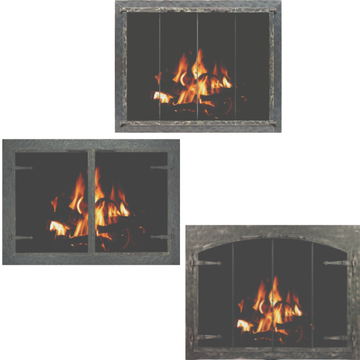 Stoll Craftsman Collection Forged Iron Fireplace Doors Photo