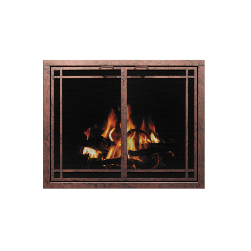 Stoll Essential Collection Mesh Fireplace Screen Door 1