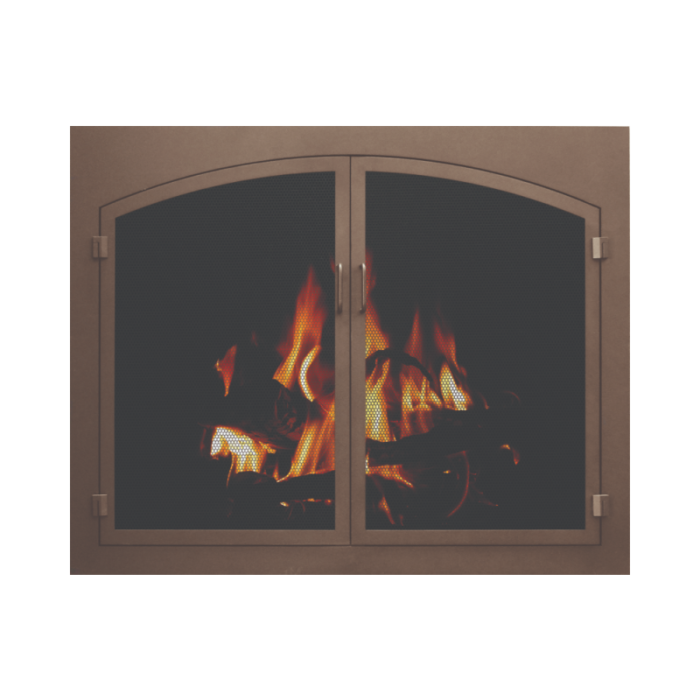 Stoll Essential Collection Mesh Fireplace Screen Door 2