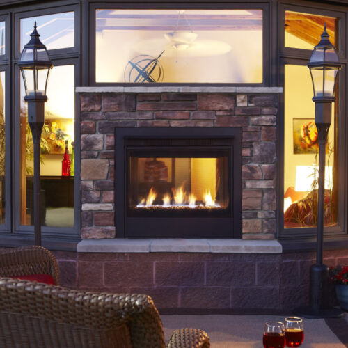 Twilight Modern Indoor/Outdoor Gas Fireplace