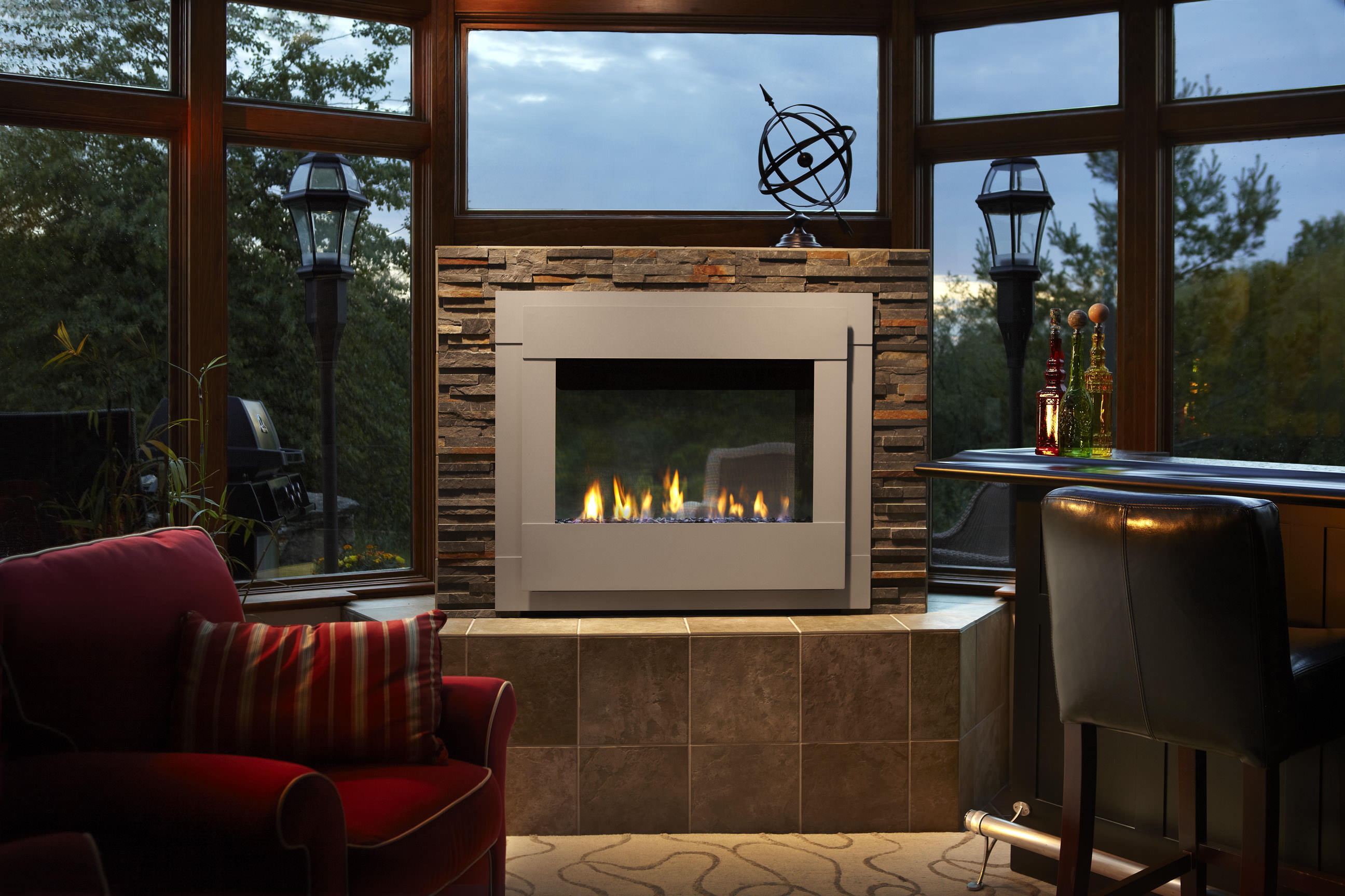 Heat Amp Glo Twilight Modern Outdoor Gas Fireplace H2oasis